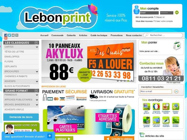 Naissance de l'imprimerie en ligne LeBonPrint