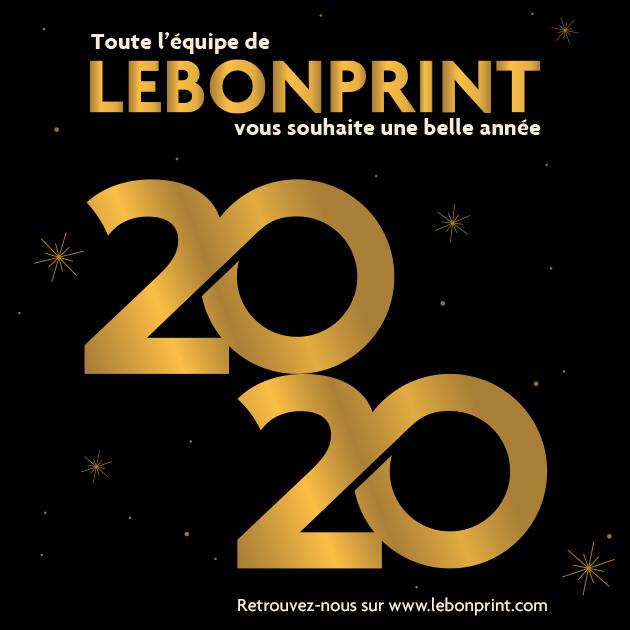 Lebonprint vous souhaite une très belle année 2020