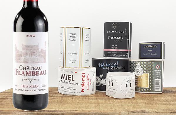 étiquette bouteille de vin impression sur mesure